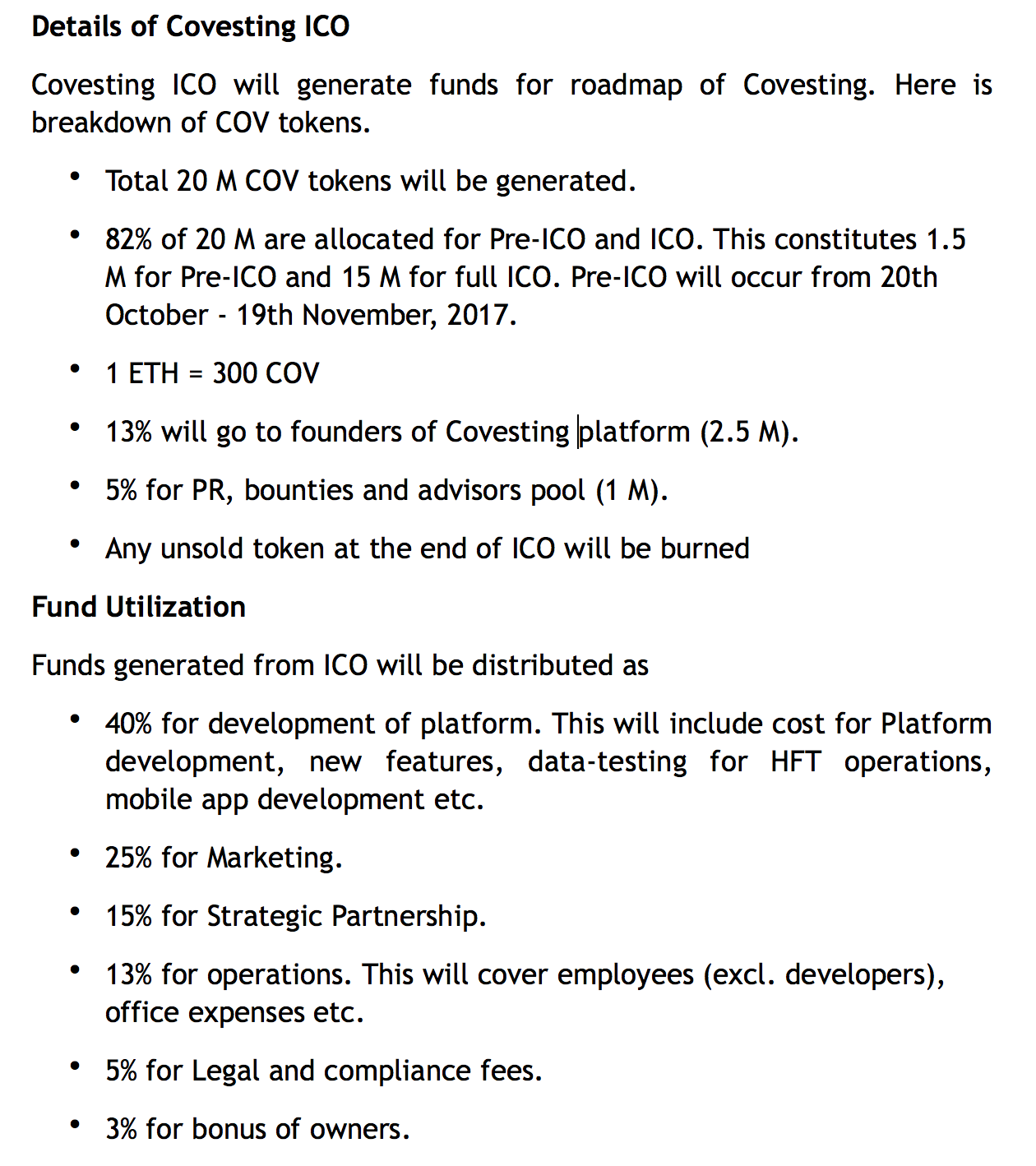 Covesting-ICO- details